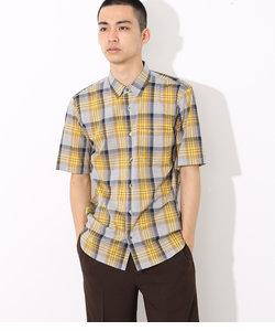 カラーステッチビッグチェックシャツ
