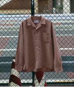 【WEB限定】パウダーポプリンオープンカラーシャツ