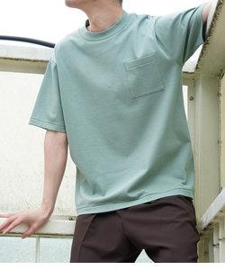 スウェットガード ワイドポケットTシャツ(汗染み防止)