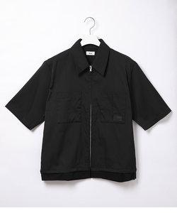 【Allege.】S/S Zip Shirt