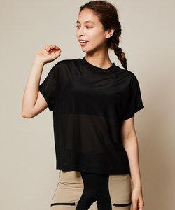 ロゴボックスシアーTシャツ