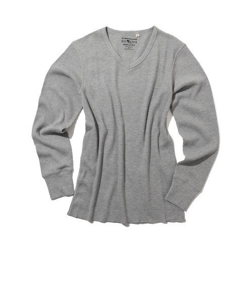 デイリー ロングスリーブ サーマル Vネック ティーシャツ/ DAILY L/S THERMAL V-NECK T-SHIRT
