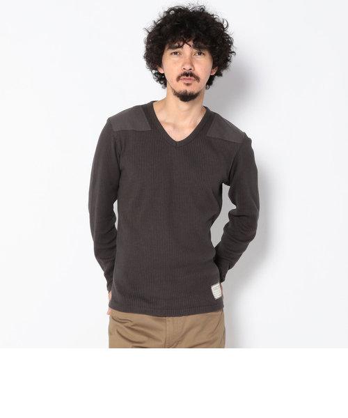 リブ コマンド Vネック ティーシャツ/ RIB COMMAND V-NECK T-SHIRT