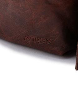AVX384/牛皮ウエストバッグ/ AVX384 LEATHER WAIST BAG