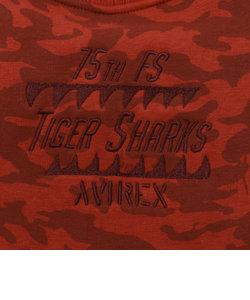 【DOG WEAR/ドッグウェア】avirex/アヴィレックス/ TIGER SHARK CAMO SWEAT/ タイガーシャーク カモスウェット