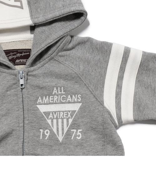 avirex/ アヴィレックス/ KIDS ALL AMERICAN SWEAT PARKA/ キッズ オールアメリカン スウェットパーカー