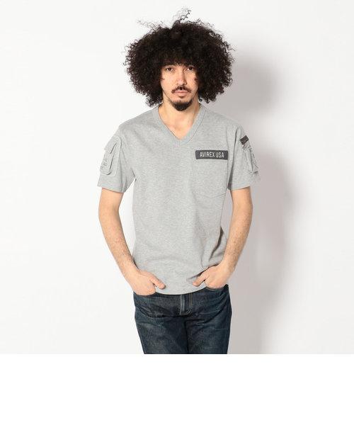 AVIREX/アヴィレックス/Vネック ファティーグ Tシャツ/V-NECK FATIGUE T-SHIRT