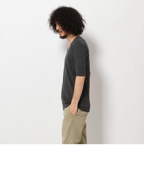 AVIREX/アヴィレックス/デイリー 五分袖 Uネック Tシャツ/HALF SLEEVE U/N T-
