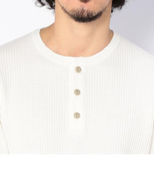直営店限定/ ロングスリーブ ワッフル ヘンリーネック ティーシャツ/ L/S WAFFLE HENLY NECK T-SHIRT