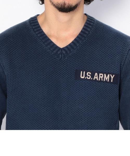 アーミー ハードウォッシュ Vネック ニット/ ARMY HARDWASH V-NECK KNITS