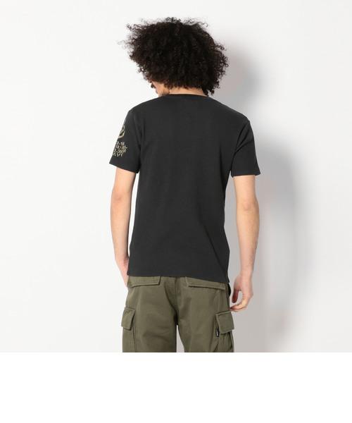 NAVY ワッフル Vネック Tシャツ/NAVY WAFFLE V-NECK T-SHIRT