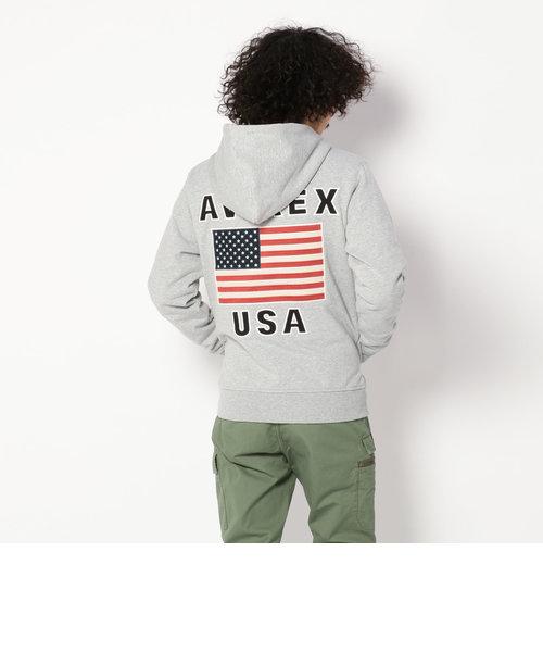 クールマックス フラッグパーカー/L/S COOLMAX FLAG PARKA