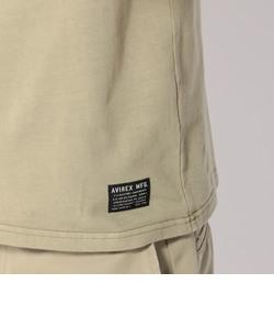 AVIREX/アヴィレックス/半袖 オーバーダイド ヘンリーネック フラッグ Tシャツ/OVER DYED HENLY NECK FLAG T-SHIRT