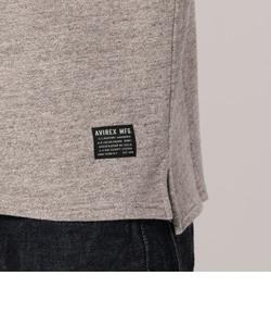 裏毛スウェット ポケット付Tシャツ/S/S SWEAT STENCIL TEE