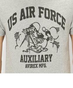 avirex/ アヴィレックス / S/S US-COTTON USAF CATS T-SHIRT/ 半袖 米綿 USAF キャッツ Tシャツ