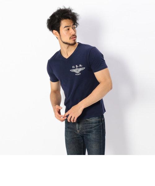 avirex/アヴィレックス/米綿USN アンカー Tシャツ/US-COTTON USN ANCHOR T-SHIRT