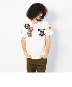 AVI-S/S AAPU PATCHED CREW NECK TEE