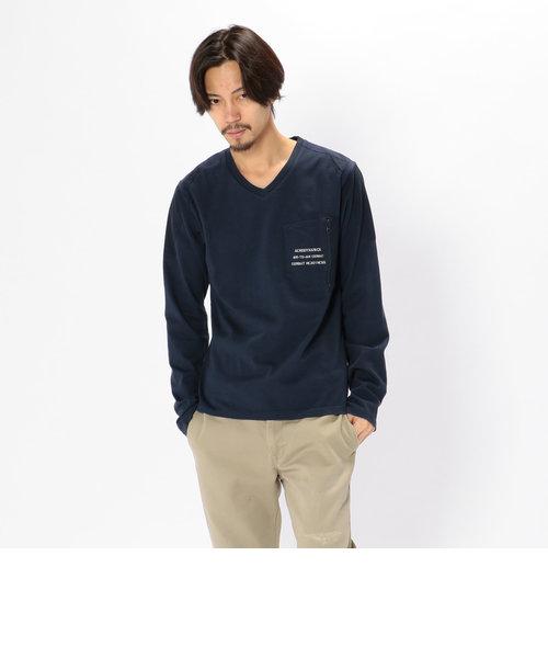 avirex/ アヴィレックス / L/S MATERIAL MIX T-SHIRT/ 長袖 マテリアル ミックスTシャツ