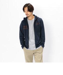 AVIREX/アヴィレックス/ZIP UP MATERIAL MIX HOODED T-SHIRT/マテリアル ミックス フード付Tシャツ