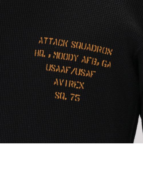 avirex/ アヴィレックス / L/S WAFFLE STENCIL CREW NECK T-SHIRT/ 長袖 ワッフル ステンシル クルーネック Tシャ