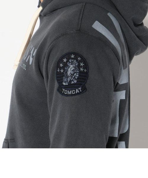 avirex/アヴィレックス/ TYPE BLUE L/S PIGMENT PARKA TOMCAT/ タイプブルー 長袖 ピグメントパーカー トムキャット