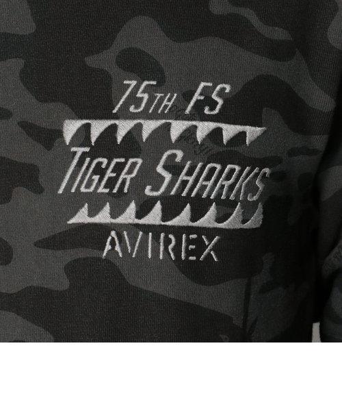 AVIREX/アヴィレックス/TIGER SHARKS CAMO CREW NECK SWEAT/タイガー シャークス カモ スウェット