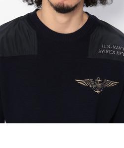 ロングスリーブ クルーネック セーター/ L/S NAVY CREW NECK SWEATER