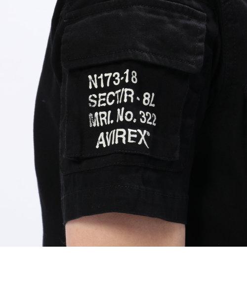 AVIREX/アヴィレックス/半袖ファティーグ カーキシャツ/FATIGUE KHAKI SHIRT
