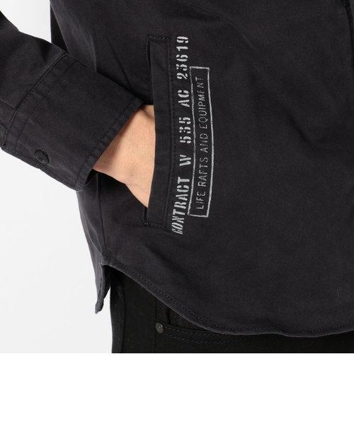 コーデュラ ミックス ステンシル カーキシャツ/CORDURA MIX STENCIL KHAKI SHIRT
