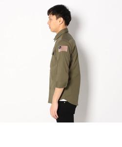 七分袖 ストレッチ ミリタリーシャツ/3/4SL STRECH MILLITARY SHIRT