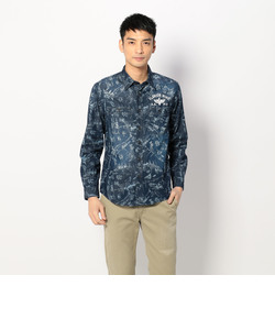 TYPE BLUE 長袖総柄デニムシャツ/L/S ALL OVER PRINT DENIM SHIRT