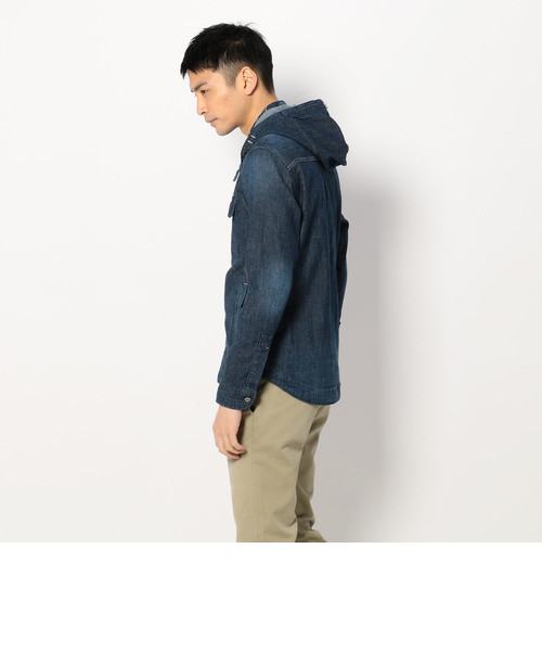 TYPE BLUE ナヴァル フーデッド シャツ/NAVAL HOODED SHIRT