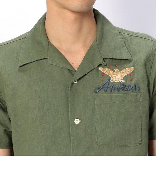 AVIREX/アヴィレックス/ エアパトロール 刺繍 シャツ/S/S AIR PATROL EMBROIDERY SHIRT