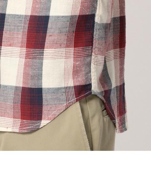 【直営店舗限定】AVIREX/アヴィレックス/半袖 ネップチェックシャツ/S/S NEP CHECK SHIRT