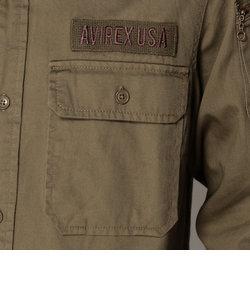 AVIREX/アヴィレックス/長袖ファティーグ カーキ シャツ/FATIGUE KHAKI SHIRT