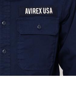 【WEB&DEPOT限定】AVIREX/アヴィレックス/ ミリタリー シャツ/MILLITARY SHIRT