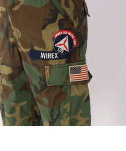 AVIREX/ アヴィレックス / COTTON RIP STOP PATCHED CARGO SHORTS/ コットン リップストップ パッチド カーゴショー