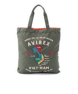 【直営店舗限定】avirex/アヴィレックス/ナイロン トートバッグ ベトナム刺繍/NYLON TOTE BAG VIETNAM