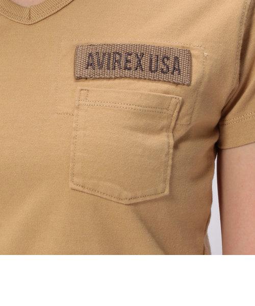 AVIREX/アヴィレックス/ファティーグ VネックTシャツ/FATIGUE V-NECK T-SHIRT