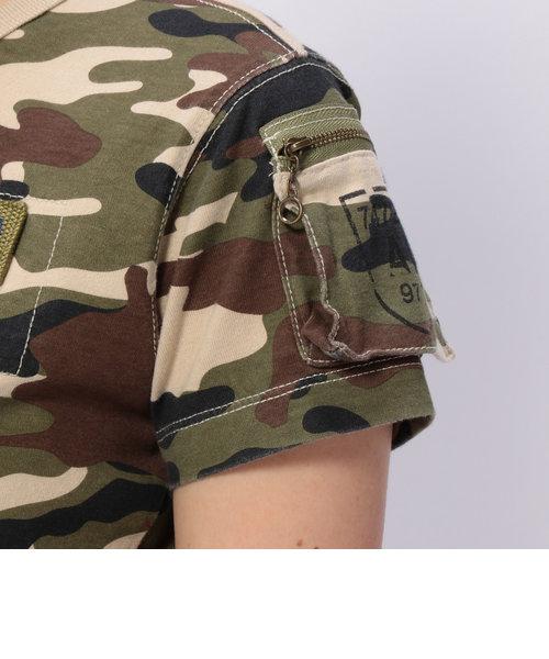 AVIREX/アヴィレックス/半袖迷彩カモフラージュ ファティーグTシャツ/CAMO FATIGUE T-SHIRT