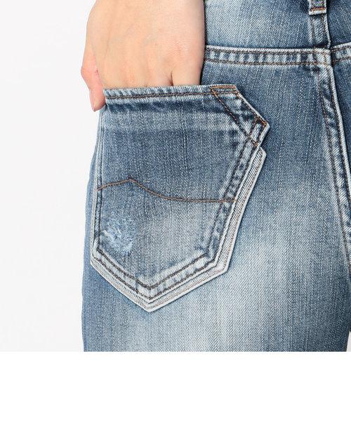 avirex/アヴィレックス/TYPE BLUE DENIM DAMAGE 5 POCKETS PANTS/ タイプブルー デニム ダメージ 5ポケット パンツ