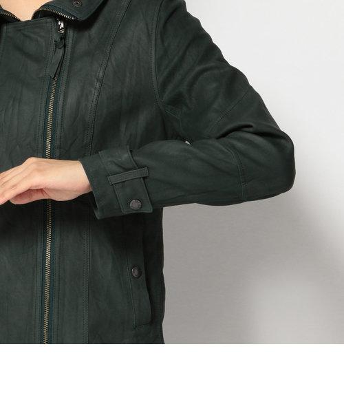 avirex/ アヴィレックス/ SHEEP WAX SUEDE STAND ZIP JACKET/ シープ スエード スタンド ジップ ジャケット