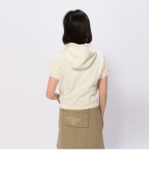 半袖 ショート ポケット パーカー/S/S SHORT POCKET PARKA
