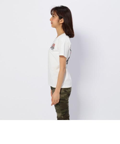 パッチド バーシティー クルーネック ティーシャツ/<br>S/S PATCHED VARSITY CREW NECK T-SHIRT