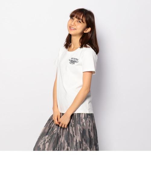 半袖刺繍Tシャツ/S/S EMB TEE