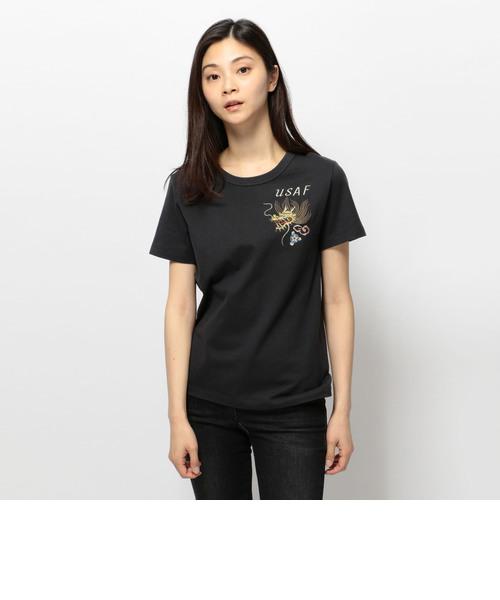 avirex/ アヴィレックス/  刺繍 スカ ティーシャツ/ L S/S EMBROIDERY SUKA T-SHIRT