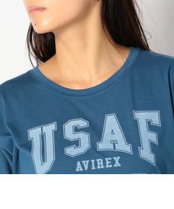 avirex/アヴィレックス/ドルマンスリーブ ロゴ ティーシャツ/L-S/S DOLMAN SLEEVES LOGO TEE