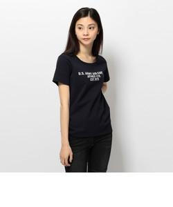 avirex/ アヴィレックス/ USAAC アップリケ クルーネック Tシャツ/USAAC APPLIQUE CREW NECK T-SHIRT