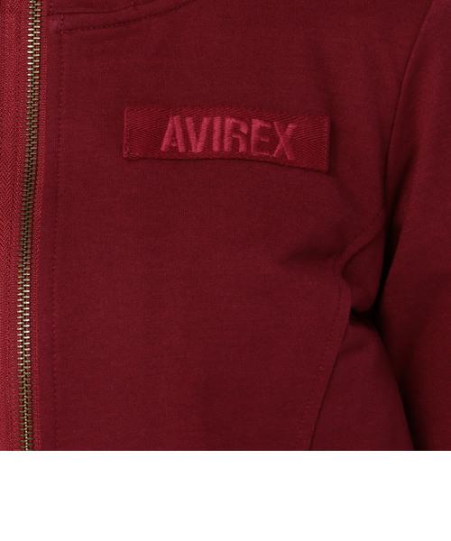 avirex/ アヴィレックス/ L/S STENCIL PRINT SWEAT ZIP PARKA/ ステンシル プリント スウェットパーカー