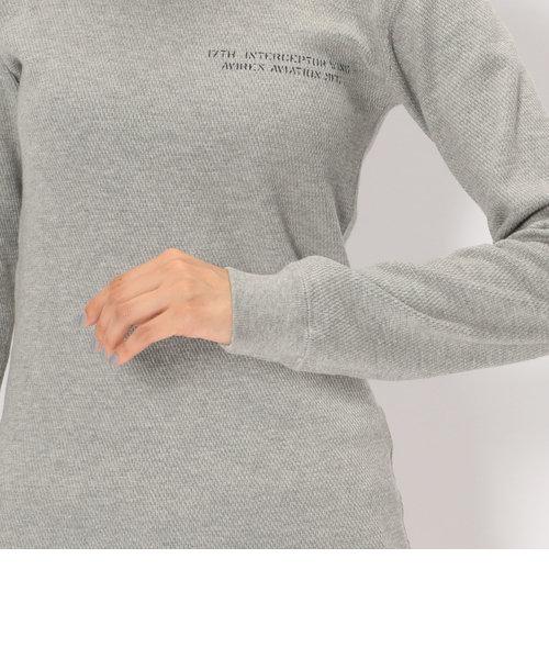 【直営店舗限定】AVIREX/アヴィレックス/ハニカム ロングスリーブ ワッフルティーシャツ/L/S HONEYCOMB WAFFLE T-SHIRT